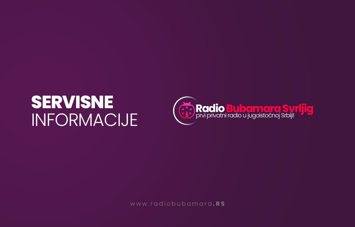 Servisne Informacije – Jutarnji program radio Bubamare Svrljig 20.01.2021. godine