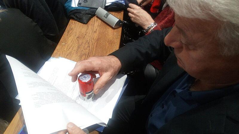 Potpisivanje, foto: J. Radojković