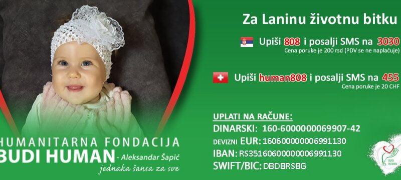 """Humanitarni ,,Bazar"""" za pomoć Lani Jovanović"""