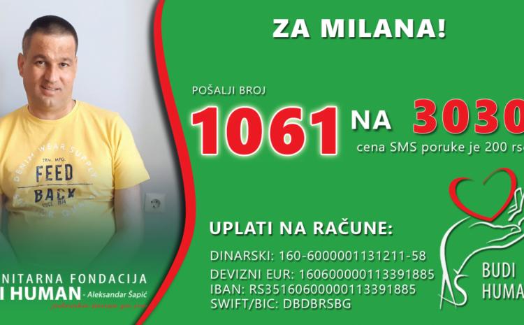 Pomoć Milanu Nikoliću iz Svrljiga – POŠALJITE 1061 NA 3030
